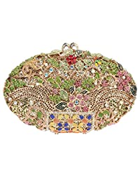 Fawziya Man Made Agate Stone And Flower Purses For Women Evening Bags