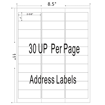 Amazon com : Firstzi 30-UP Amazon FBA Address Labels for