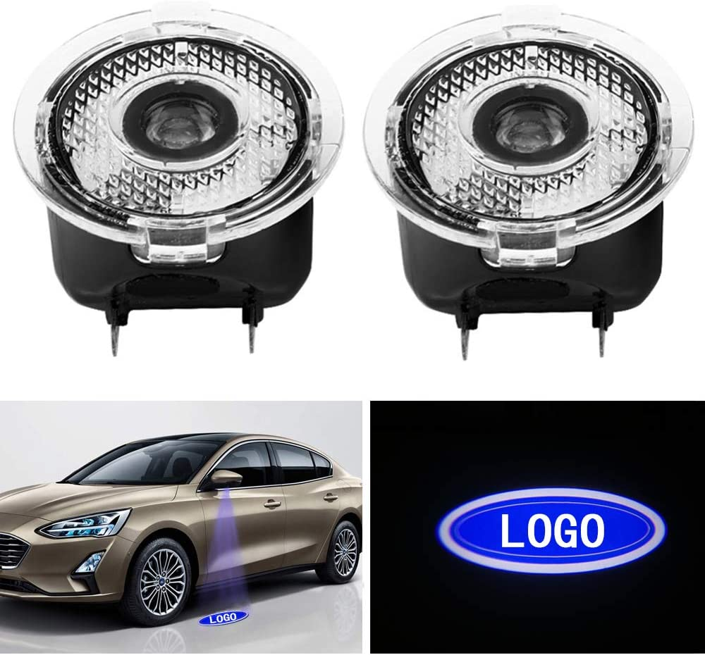 1 Pair Car Door LED Logo Puddle Light Side Mirror Projector Ghost Shadow Lights Courtesy Step Welcome Ground Lights Works with Ford Series