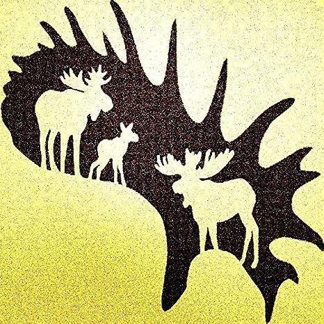 Moose ANIMAL Mylar airrush Painting Wall Art Stencil 2