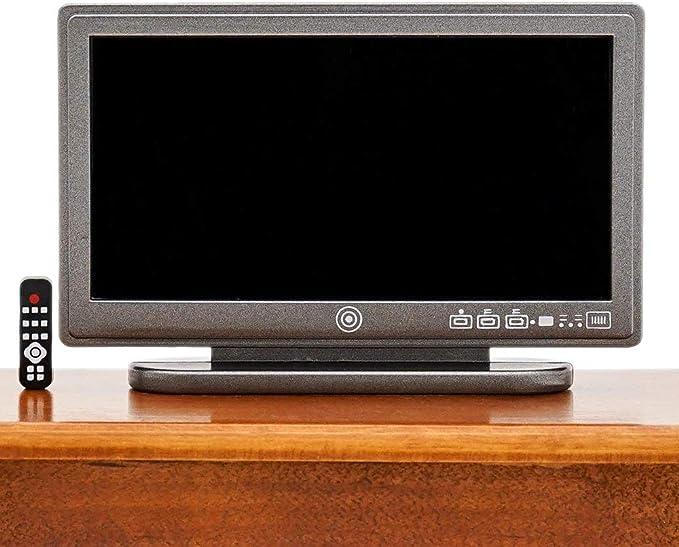 Dolls House TV Console Speakers Remote Control Miniature Entertainment Centre