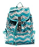 Fashion Chevron Sequin Backpack