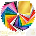 METALLIC UNICORN Permanent Adhesive Vinyl SheetS, Set of 34 and 5 Transfer Tape Sheets Starter Kit, 4 Finishes (Matte, Glossy and Metallic) from Metallic Unicorn