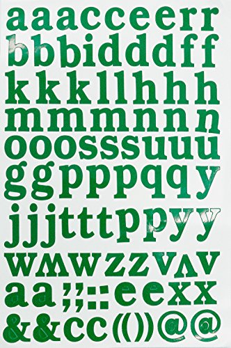 Jazzstick Small Lower-Case Alphabet Letters Decorative Sticker Value Pack Self Adhesive Label for Craft and Scrapbooking 5 sheets, Green 14D02 ()