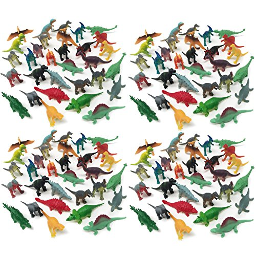 BOLEY 150-Pack Miniature Green Army Men Sized Dinosaur Toys - Mini Plastic Dinosaur Toy Figures for Party Pack, Party Favors, and Cake Toppers Baby Dinosaur Miniature