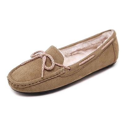 Aisun Femme Classique Noeud Chaussures Plates Mocassins