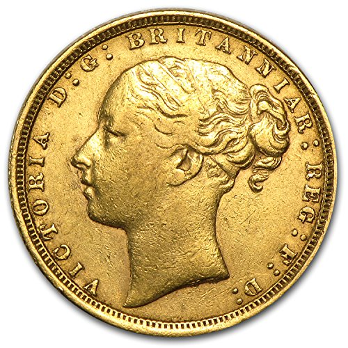 1871 UK - 1885 Great Britain Gold Sovereign Young Victoria Avg Circ Gold Very Good