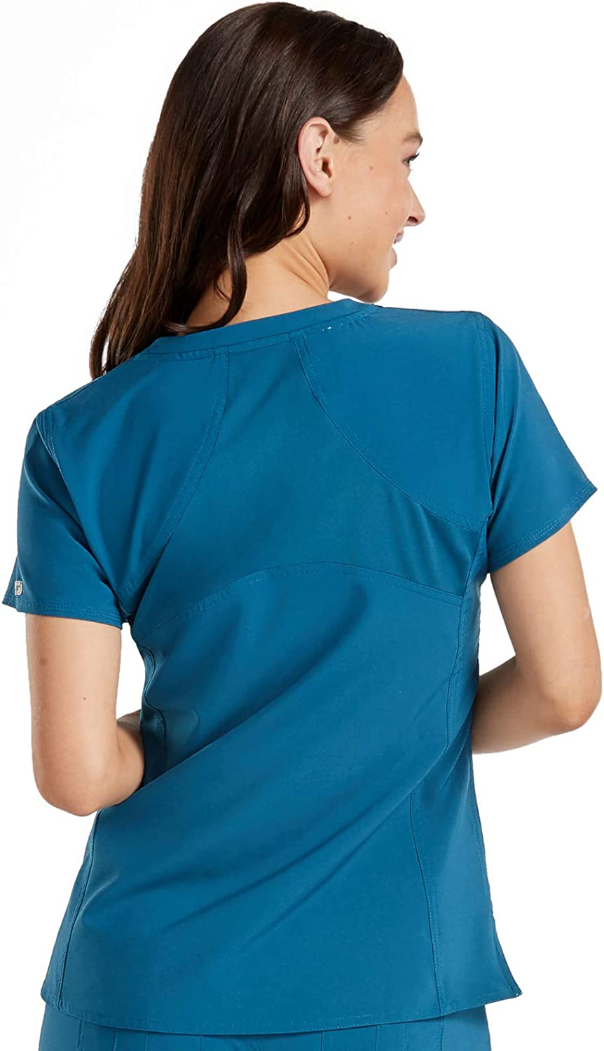 Med Couture Energy Womens Racerback Shirttail Scrub Top