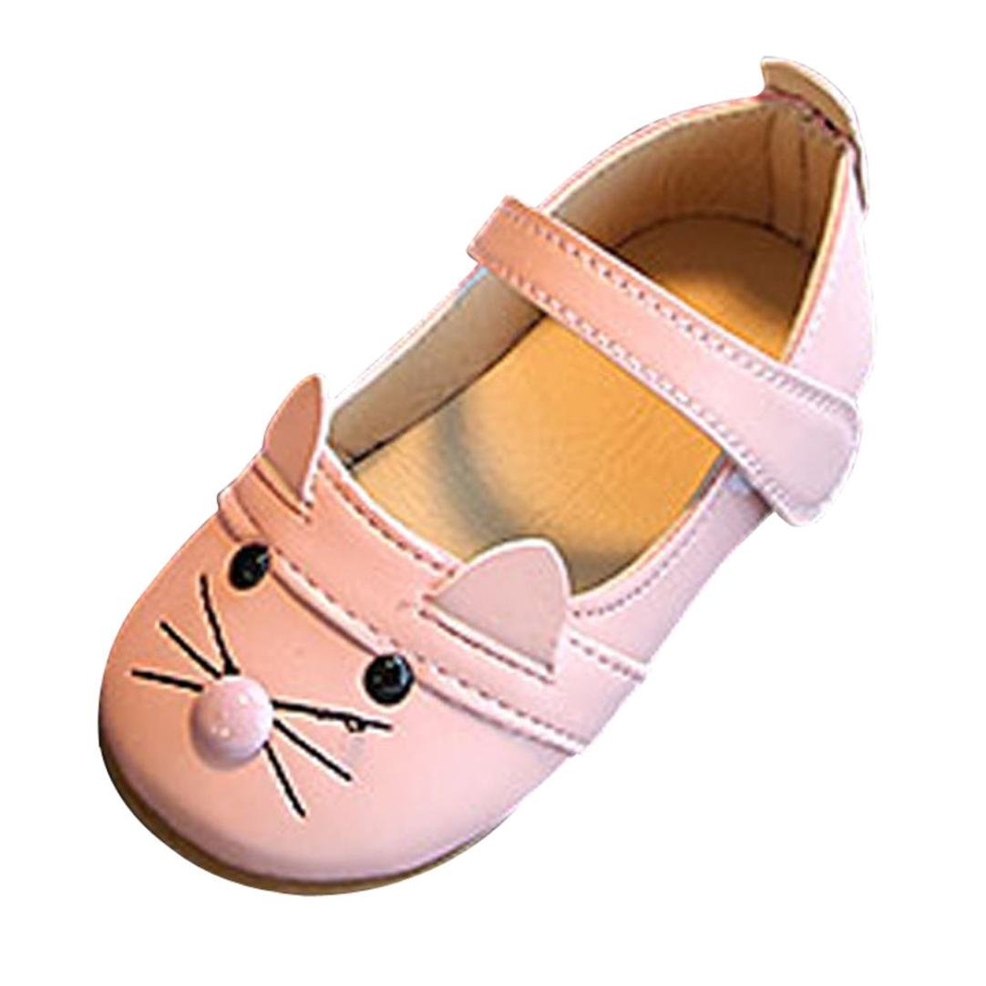 Sunbona Toddler Little Girls Cat Dance Ballet Flats Princess Mary Jane Slip On Ballerina Casual Shoes