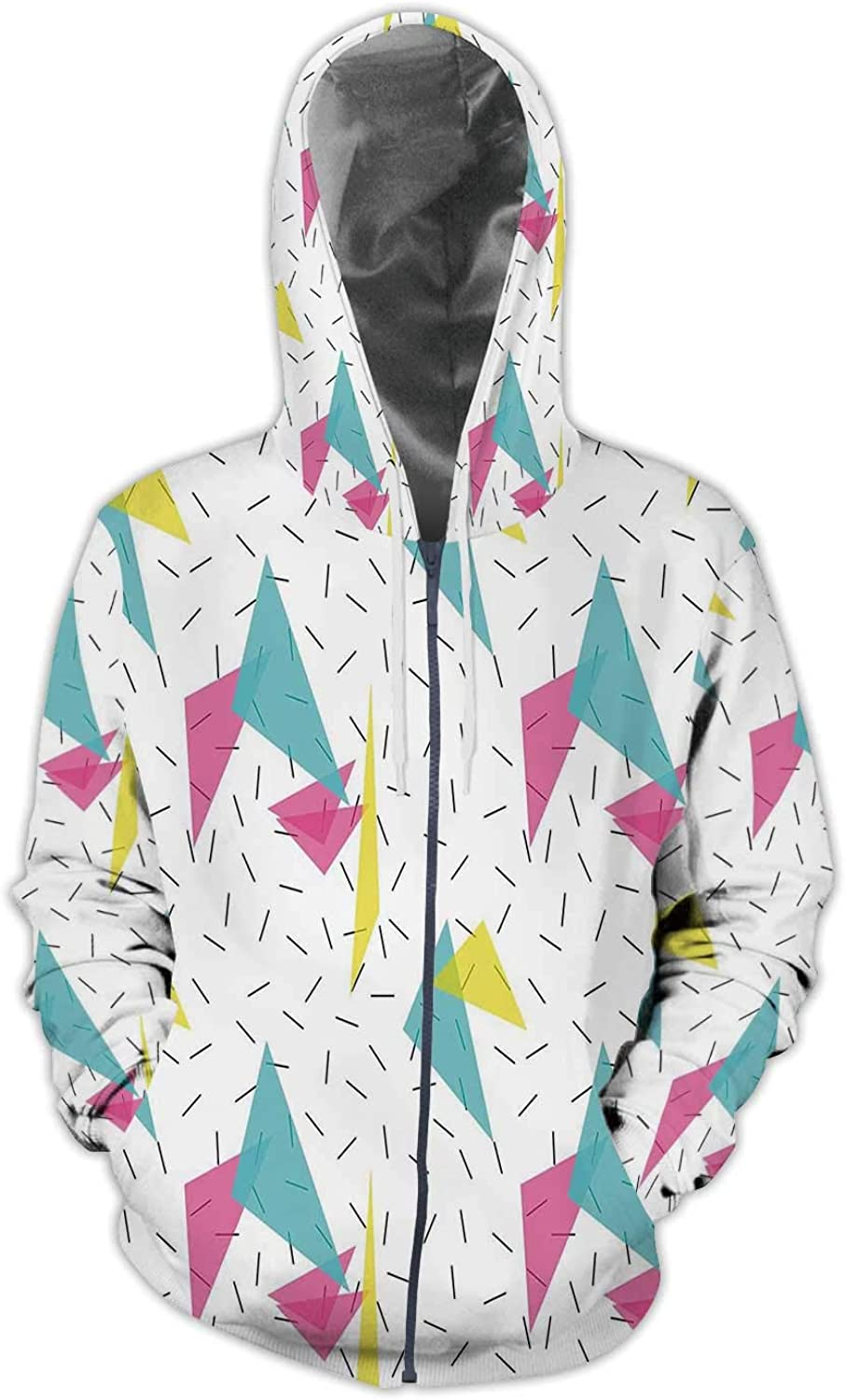 Cartoon Doodles Hand Drawn Cinema,Men//Womens Warm Outerwear Jackets and Hoodies Colorful S