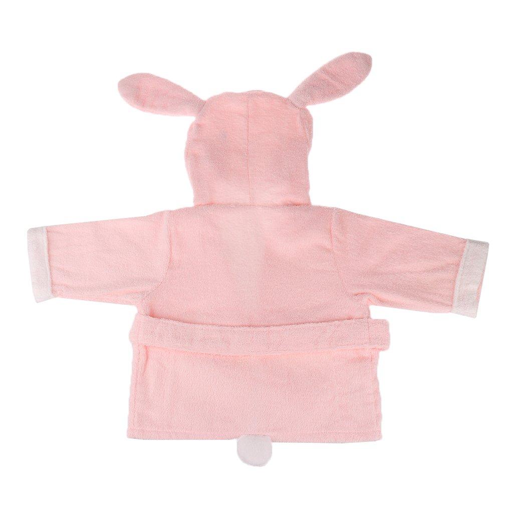 Hippopotame Sharplace Peignoirs B/éb/é avec Capuche Animaux Peignoirs Pyjamas B/éb/é V/êtements de Nuit et Peignoirs B/éb/é 3 Mois et Plus 3 Mois et Plus