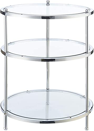 Convenience Concepts Royal Crest 3 Tier Round End Table - a good cheap living room table