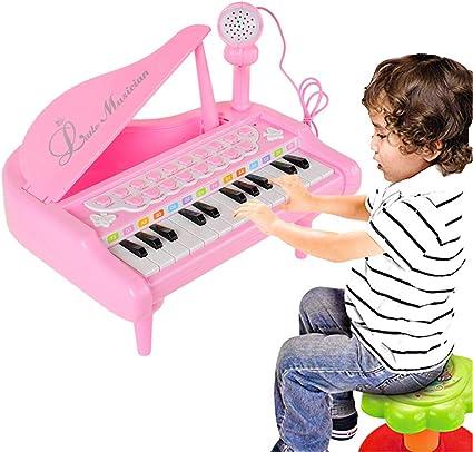 L Teclado de Juguete de Piano eléctrico para niños de 24 ...