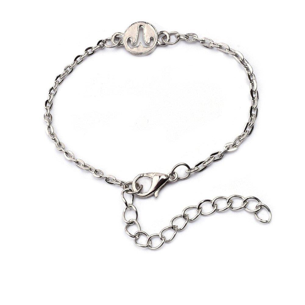 Wintefei Stylish 12 Constellations Bracelet Fashion Women Jewelry Cuff Zodiac Sign Special Bangle - Aries
