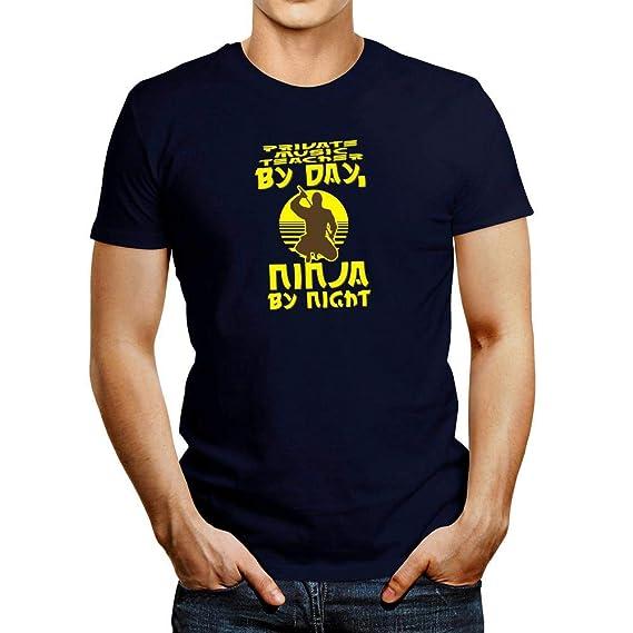 9f2bfac4 Amazon.com: Idakoos Private Music Teacher by Day, Ninja by Night T-Shirt:  Clothing