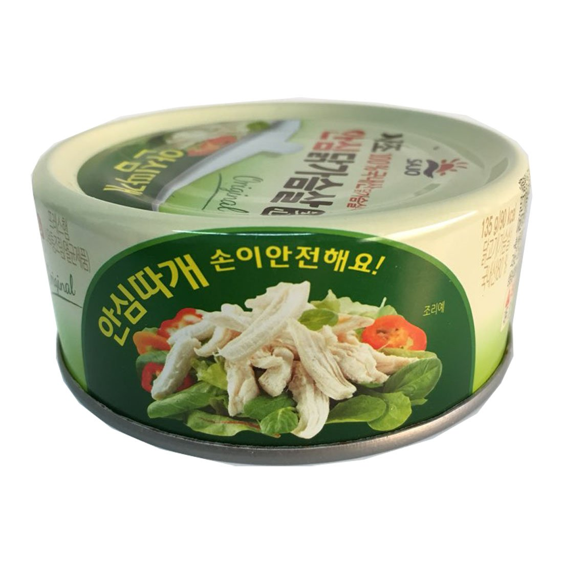 [SAJO] Korean Food canned chicken breast (4.76oz x 3pack / 135g x 3pack) + SafeZone Mask (2pcs) by Sajo (Image #2)