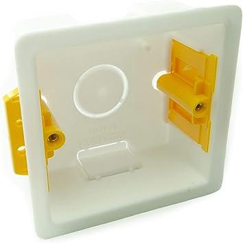 Caja de individual portamecanismos/cajas de 35 mm 1 Gang: Amazon ...