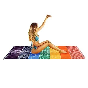 Alfombrilla de yoga VANELIFE, toalla para playa, de siete colores, 75x
