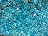 "Teal Lagoon Crushed Fire Glass 1/2""-3/4"" Firepit Glass 10 Pounds offers"