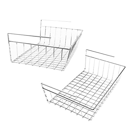 My Under Shelf Basket | 2Pcs Space Saving Easy Attach Stack Slide Under  Shelf Storage |