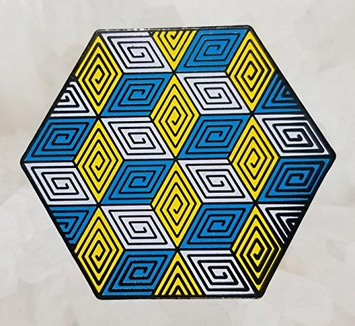 Sacred Geometry Maze Cube Grid Enamel Hat Pin Festival Pin Grateful Dead Pin Dab Pin Disney Pin ()