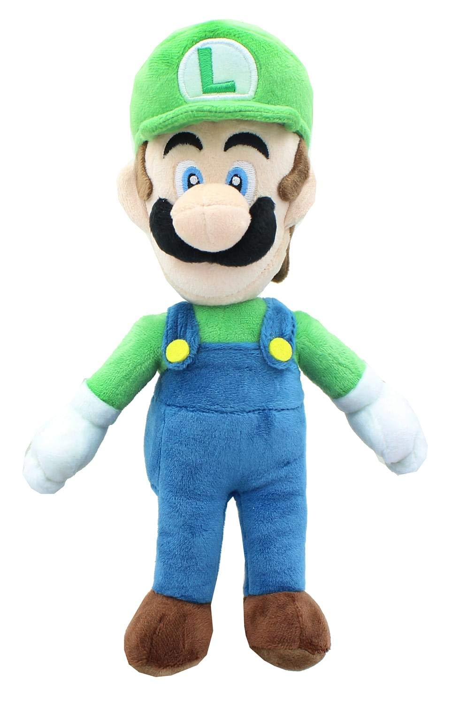"""Little Buddy Super Mario All Star Collection 1415 Luigi Stuffed Plush, 10"""",Multi-Colored"""