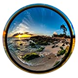 Round Porthole-Shaped Metal Print - Through The Looking Glass - Hawaiian Sunset (20'')