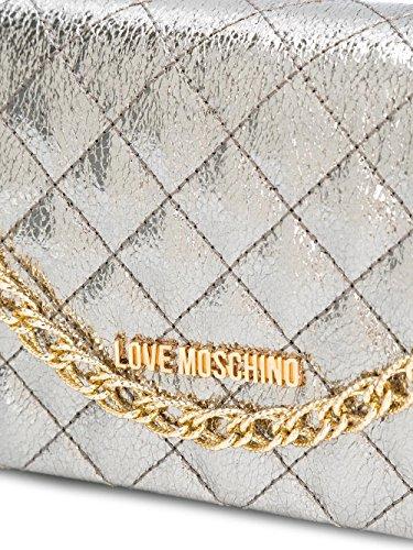 Love Moschino Pochette Donna JC4106PP13LU0910 Poliuretano Argento