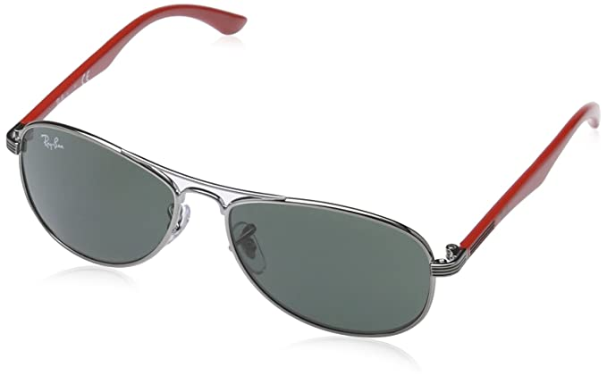 Ray-Ban Unisex - Kinder Sonnenbrille 9529S200/71, Gr. 50 mm, Grau(metall)