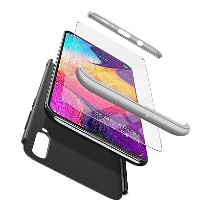 ivencase Funda Samsung Galaxy A50+ Cristal Templado, Samsung Galaxy A50 Carcasa 3 in 1 Rígida PC Protective Anti-rasguños Case Cover Caso para Samsung ...