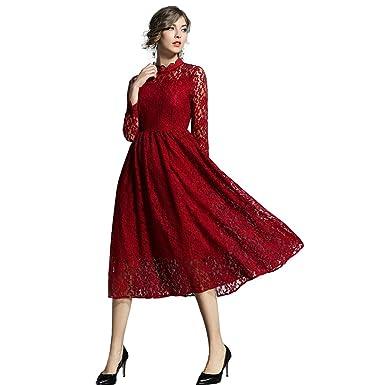 various design fresh styles official images GWELL Femme Robe Mi Longue en Dentelle Mariage Soirée ...