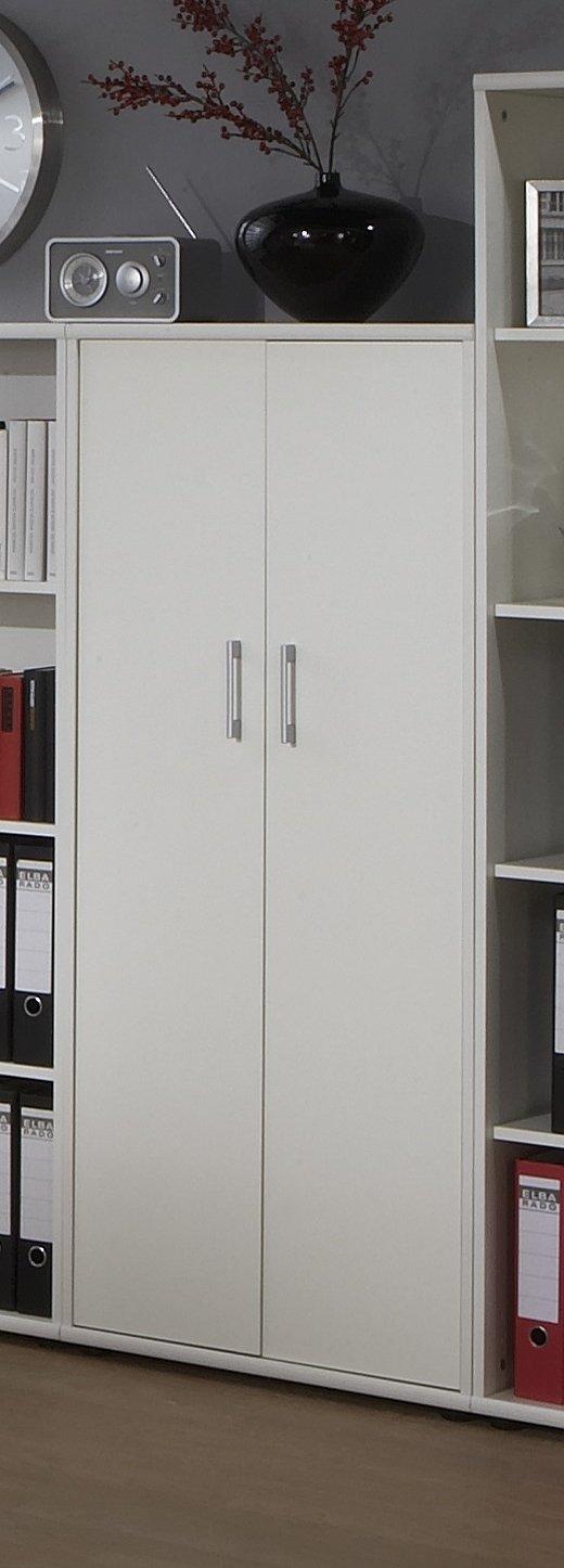 Büroeinrichtung Büromöbel Büro Weiß Eckschreibtisch Bürocontainer Aktenschrank Regal Schreibtisch (Aktenschrank Weiß 4 OH)