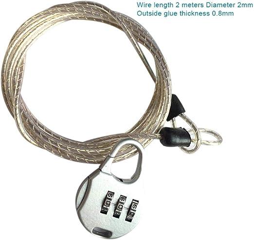 SAOJI Antirrobo Contraseña Cerradura Cable de Acero Equipaje ...