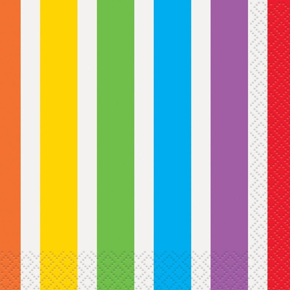 Rainbow Party Beverage Napkins, 16ct