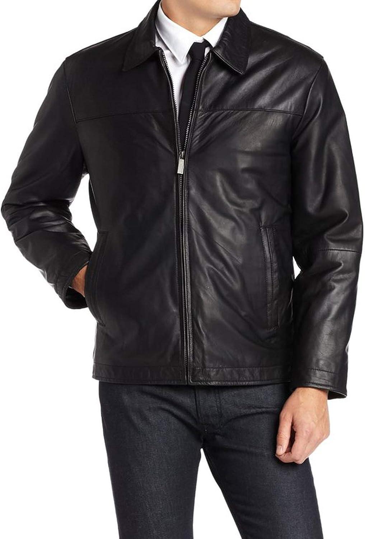 Mens Leather Jacket Stylish Genuine Lambskin MJ102