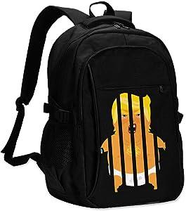 Trump Baby Blimp Jail Impeach Prison Unisex Backpack Travel Shoulder Bag USB Laptop Bag