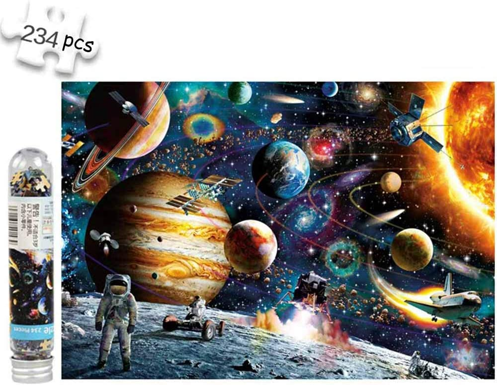 Polar Impression,Starry Night Sky,Unicorn,Sunset 4 Packs Mini Jigsaw Puzzles for Adults 150 Pieces Small Jigsaw Puzzle Challenging Micro Puzzle Difficult Tiny Puzzle Home Decor Entertainment 6x4in,