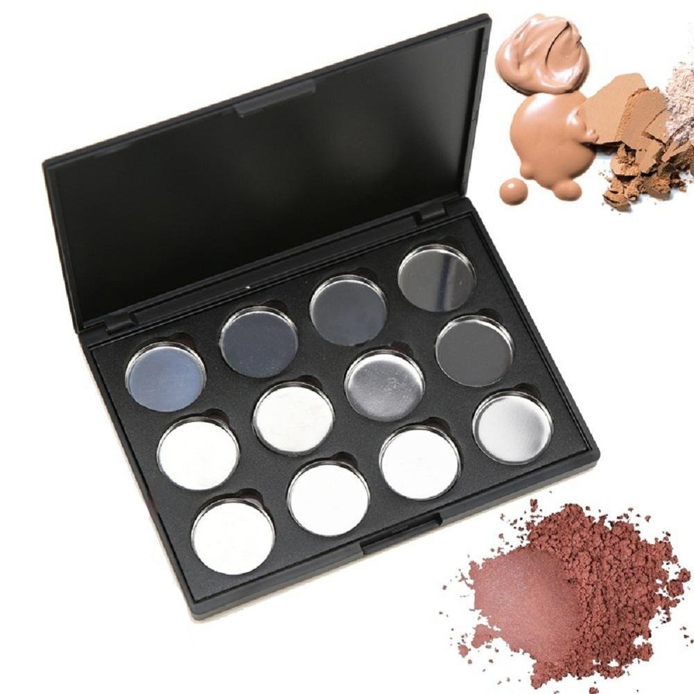1Pcs 12 Grids Eye Shadow Palette-Empty Magnetic Cosmetics Makeup Eyeshadow Eye Shadow Aluminum Palette Pans Case erioctry