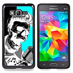 - Elvis Music Rock Roll Microphone Skull - - Snap-On Rugged Hard Cover Case Funny HouseFOR Samsung Galaxy Grand Prime G530H G5308
