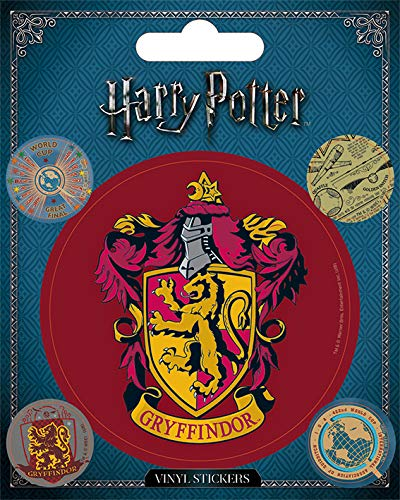 Wizarding World Harry Potter-Gryffindor - Vinilo adhesivo, multicolor, 10 x 12,5 cm Pyramid International PS7388-Multi-Color-10 x 12.5cm