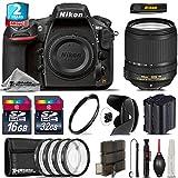 Holiday Saving Bundle for D810 DSLR Camera + 18-140mm VR Lens + 2yr Extended Warranty + 32GB Class 10 Memory + Backup Battery + Macro Filter Kit + 16GB Class 10 + UV Filter - International Version