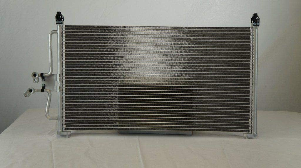 Junonne Radiator All Aluminum Condenser 1 Row For 2005-2007 Escape Tribute Mariner 2.3L 3.0L Without Oil Cooler CU3298 6L8Z19712AA REA31-3298P