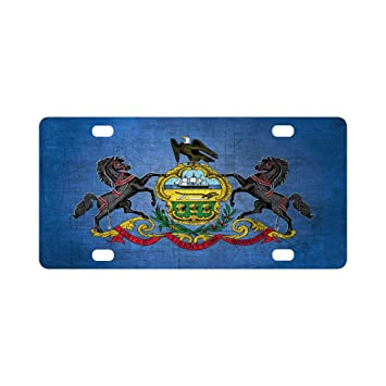 Amazon Com Pennsylvania State Flag Pattern Classic Metal License