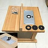 Máquina de aparar placa de inserção de mesa prática para marcenaria, carpinteiro, peças de ferramentas elétricas, acessórios