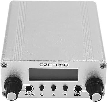 Japace® Wireless 0.5 W 05B Modo Dual Largo Alcance (10km) Estéreo Broadcast Casa FM Transmitter Transmisor FM Blanco --- Desnudo (CZE-05FM transmisor ...
