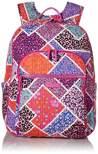 Vera Bradley Women's Iconic Deluxe Campus Backpack, Modern Medley by Vera Bradley