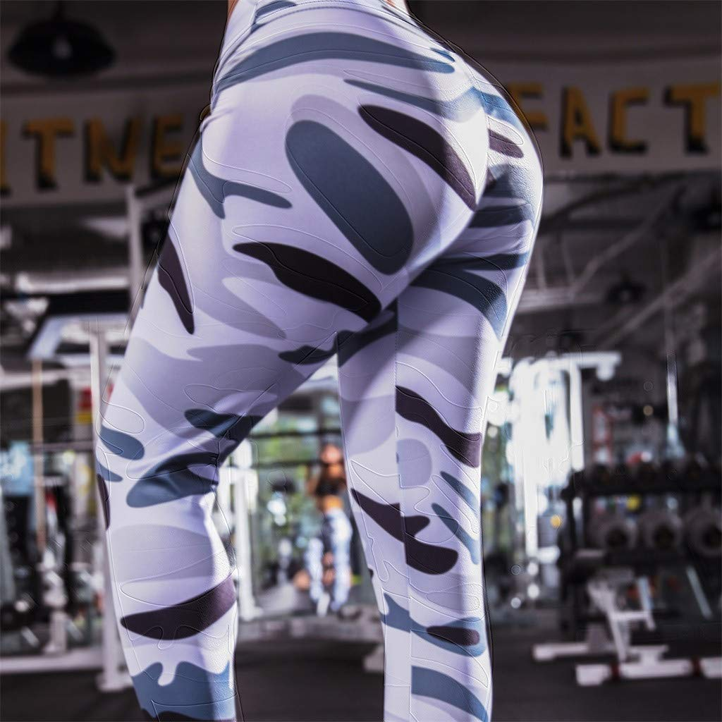 Booming Donna Estate Skinny Eleganti Pantaloni Vita Alta Yoga Tinta Unita Anca Stretch Pants Elastico Fitness Running Leggings Jogging Sportivi Workout Gym Slim Esecuzione Palestra