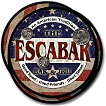 Escabar Bar and Grill Rubber Drink Coasters - 4 Pack