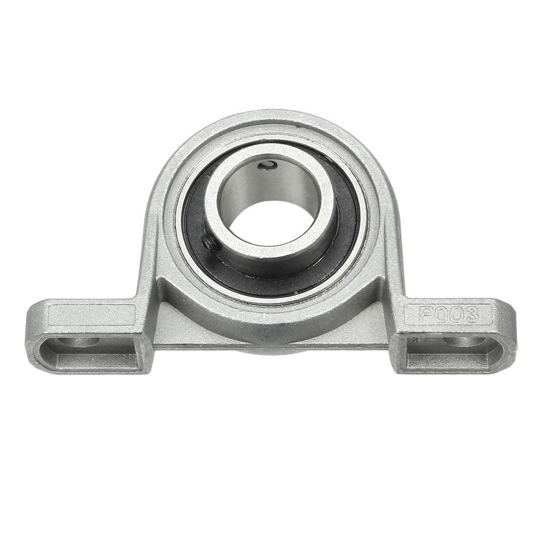 uxcell 2 Pcs KFL001 12mm Zinc-Aluminum Alloy Flange Pillow Block Bearing
