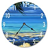 Stupell Home Décor Palm Tree Shadows Decorative Vanity Wall Clock, 12 x 0.4 x 12, Proudly Made in USA
